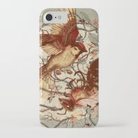 wings iPhone & iPod Cases featuring Honey & Sorrow (grey) by Teagan White