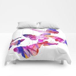 Pink Butterflies Comforters