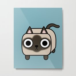 Cat Loaf - Siamese Kitty Metal Print