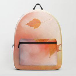 Autumn abstract background with leaves Backpack