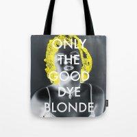 blondie Tote Bags featuring Blondie by Justin Catron