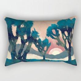 Sunset Desert Canyon Rectangular Pillow