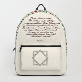 Whitman and the world Backpack