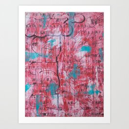 Red Tags & Throws Art Print