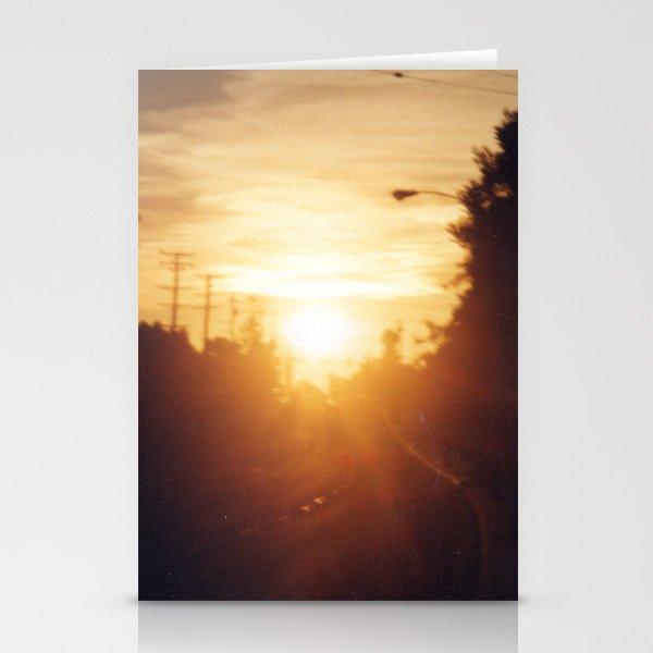 Golden Milk Sky Stationery Cards