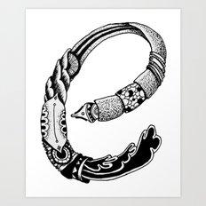The E Art Print