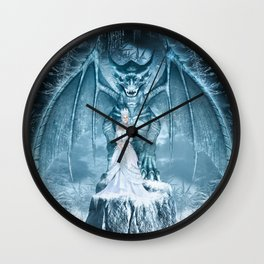 Ice Queen and Dragon Wall Clock