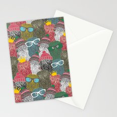 The crowd. Stationery Cards
