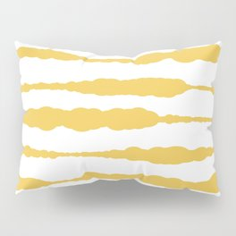 Macrame Stripes in Mustard Yellow and White Pillow Sham