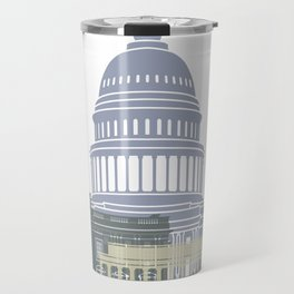 Washington DC skyline poster Travel Mug