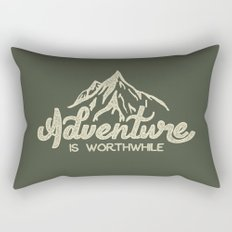 Adventure is Worthwhile Rectangular Pillow