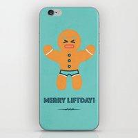 crossfit iPhone & iPod Skins featuring Merry liftday by Marielu