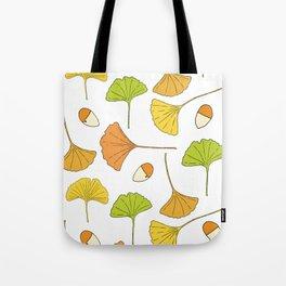 Ginkgo Tree Pattern Tote Bag