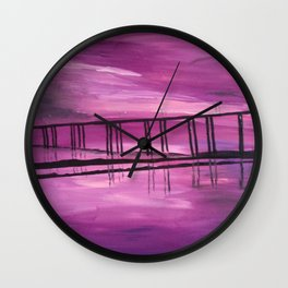 Sunset on the Hackensack River Wall Clock