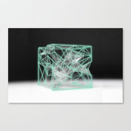 neon cube Canvas Print