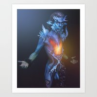 Capricorn - Zodiac Series Art Print