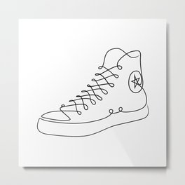 Chucks - Single line art Metal Print