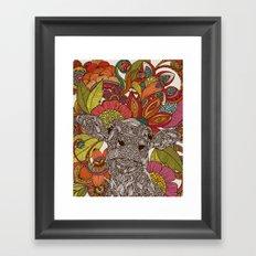 Arabella and the flowers Framed Art Print