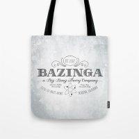 bazinga Tote Bags featuring Bazinga Vintage by Nxolab