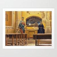 religion Art Prints featuring Religion by Sébastien BOUVIER