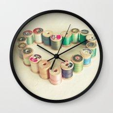 I Heart Sewing Wall Clock