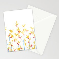 Bamboo tree pattern Stationery Cards