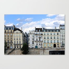 Blues Hue Façades in Paris Canvas Print
