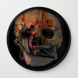 Skull machine Wall Clock