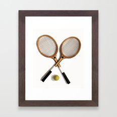 vintage Tennis rackets and ball Framed Art Print