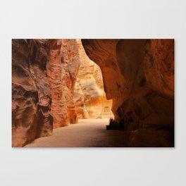 Rock formation in Wadi Rum desert in Jordan Canvas Print