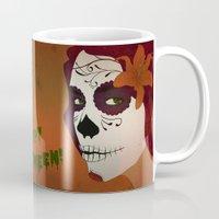 calavera Mugs featuring Calavera by Eveline