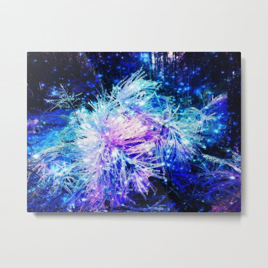 Galaxy Plant Metal Print