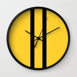 Bruce Bee Bumble Lee Stripes Wall Clock