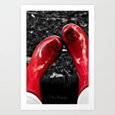 Mud Puddles Art Print