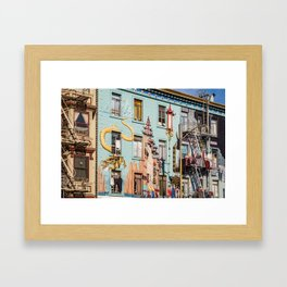 Colorful San Francisco Framed Art Print