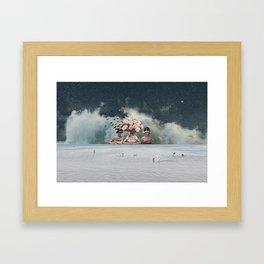 Bridesmaids of the Windy Bride Framed Art Print