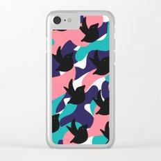 Birds Pattern Clear iPhone Case