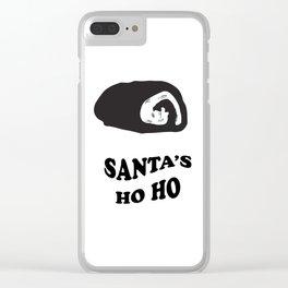 Santa's Ho Ho Clear iPhone Case