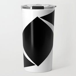 Abstract Modern Minimalist shapes Graphic Square triangles - balance Travel Mug