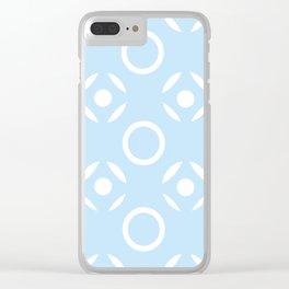Tic Tac Toe in Blue Clear iPhone Case