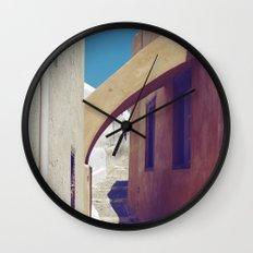 Santorini Walkway III Wall Clock
