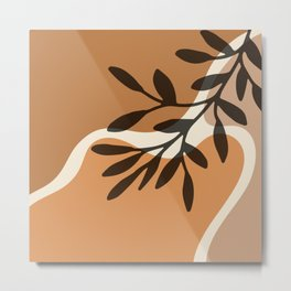 Modern Minimalist Abstract #12 - Nude botanical Metal Print
