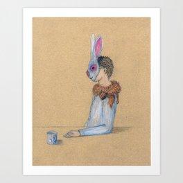 Alle Macht dem Kaninchen Art Print