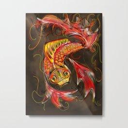 Fire Koi Metal Print