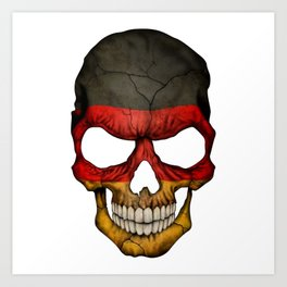 Exclusive Germany skull design Art Print