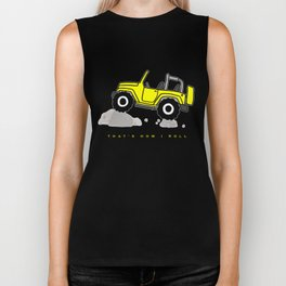 That's how I roll - Yellow Jeep Biker Tank