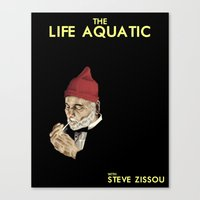 zissou Canvas Prints featuring Zissou by Bryan Hernandez