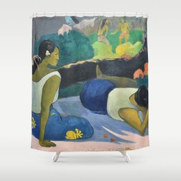 Paul Gauguin - Reclining Tahitian Women, Arearea no varua ino (1894) Shower Curtain
