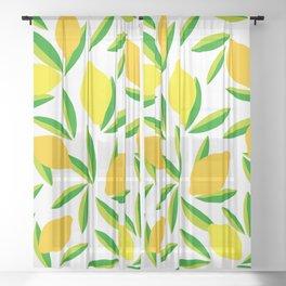 Pop Lemon & green Pattern #summervibes Sheer Curtain