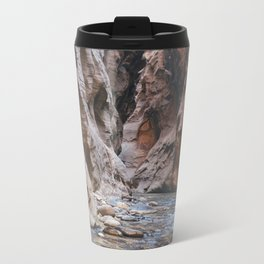 Cairn in the Zion Narrows Metal Travel Mug